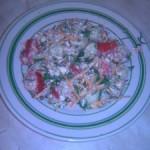 Салат из творога с гречкой