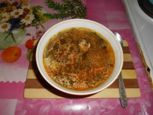 Куриный суп овощной